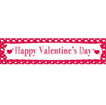 Click to view product details and reviews for Valentines Hearts Themed Banner 12m.