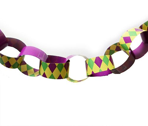 Mardi Gras Themed Paper Chain Kit - A3 Card