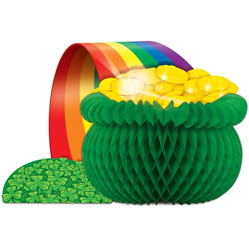 Irish Pot-o-Gold 3D Honeycomb Centrepiece - 30.5cm
