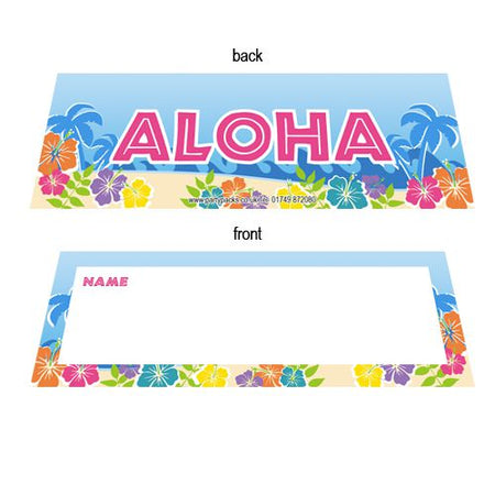 Island Party Themed Placecards - Pack of 8