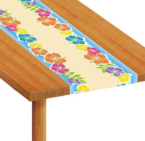 Island Party Themed Paper Table Runner - 1.2m