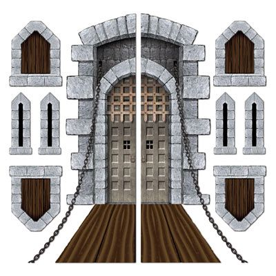 Castle Drawbridge Door & Window Props - 1.77m - Pack of 9