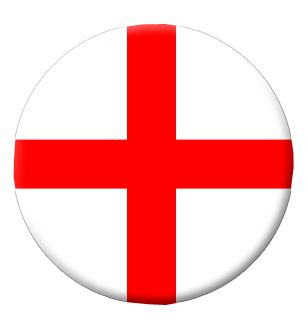 England St George's Flag Badge - 58mm - Each