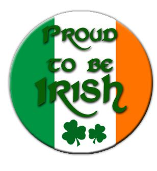 Proud To Be Irish Badge 58mm (Pinned Back) - Each