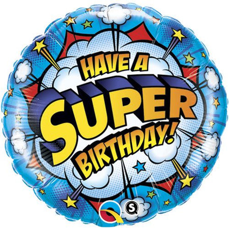 Have A Super Birthday! Foil Balloon - 45.7cm