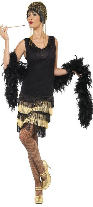 1920'S Fringed Beaded Flapper Costume