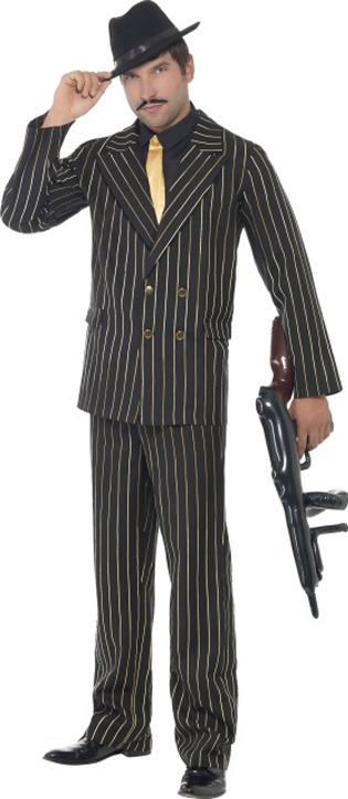 Gold Pinstripe Gangster Costume