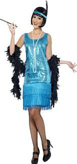 Flirty Flapper Teal Costume