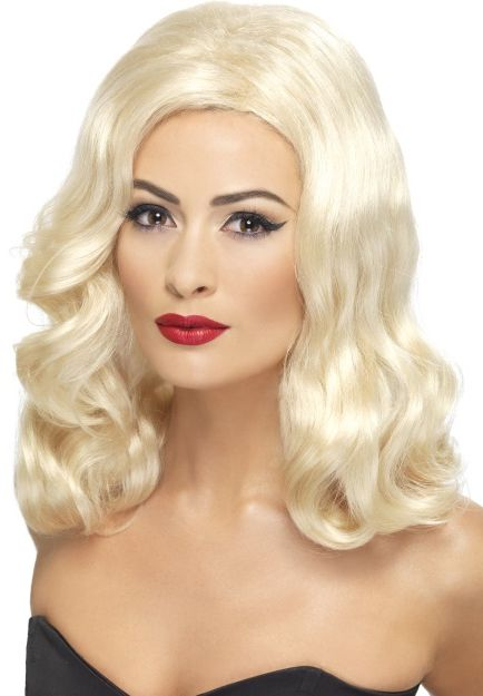 1920's Luscious Long Blonde Wig