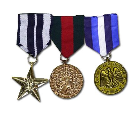 Military Medals, Pack Of 3