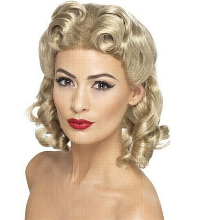 1940's Blonde Sweetheart Wig