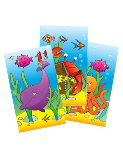 Sealife Themed Mini Notebook - Assorted Designs - Each