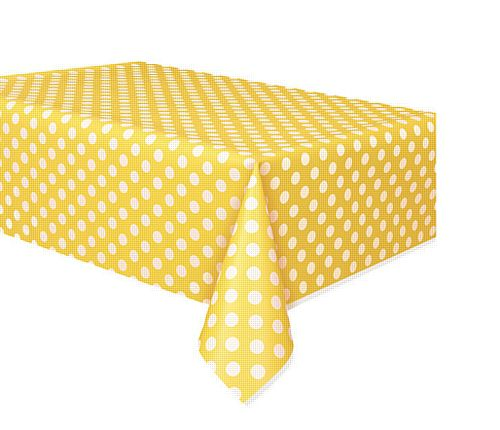 Yellow Dots Tablecloth - 137cm x 274cm