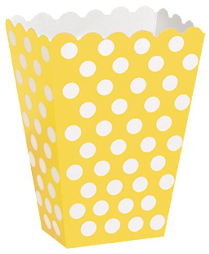 Yellow Dots Treat Boxes - Pack of 8