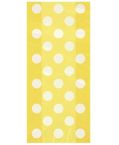 Yellow Dots Cello Bags - Pack of 20