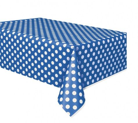 Blue Dots Tablecloth - 137cm x 274cm
