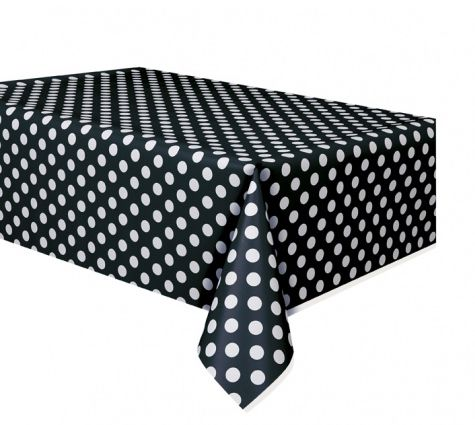Black Dots Tablecloth - 2.74m
