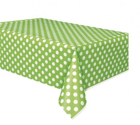 Green Dots Tablecloth - 137cm x 274cm