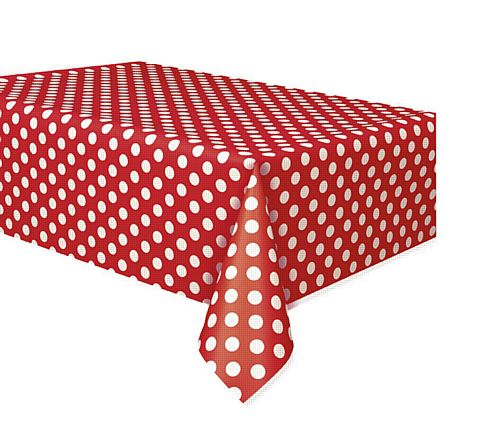 Red Dots Tablecloth - 137cm x 274cm