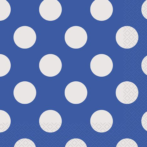 Blue Dots Napkins - Pack of 16