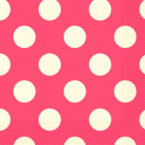 Pink Dots Napkins - Pack of 16