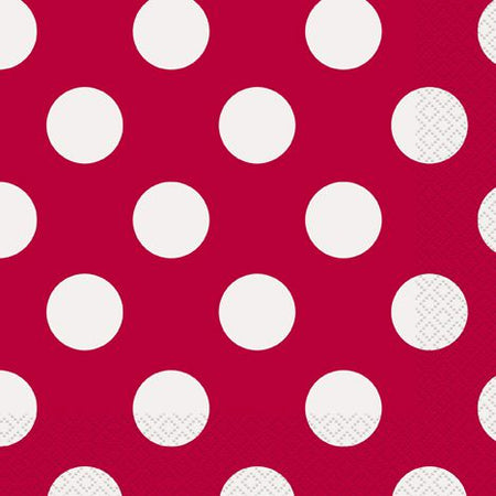 Red Dots Napkins - Pack of 16