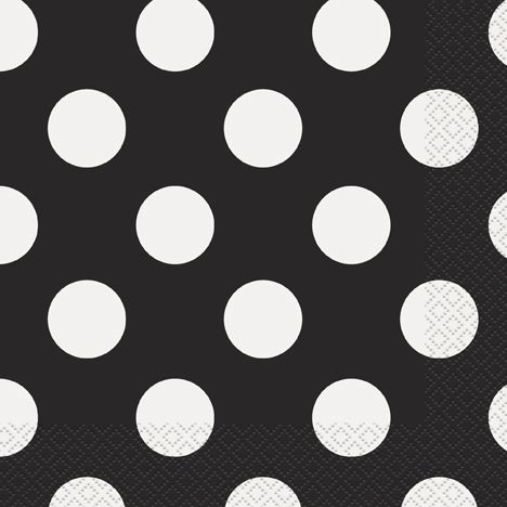 Black Dots Napkins - Pack of 16