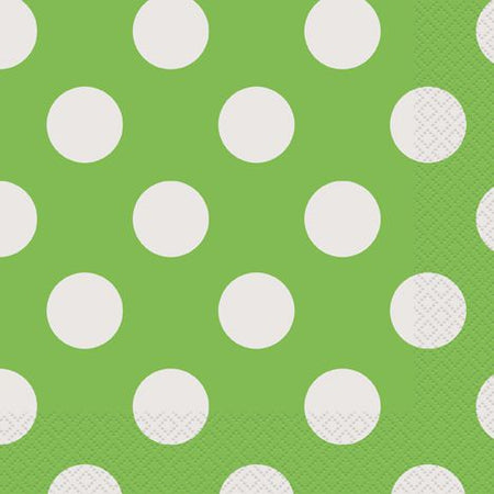 Green Dots Napkins - Pack of 16