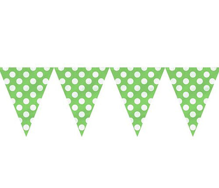 Green Dots Flag Bunting - 12ft - Each