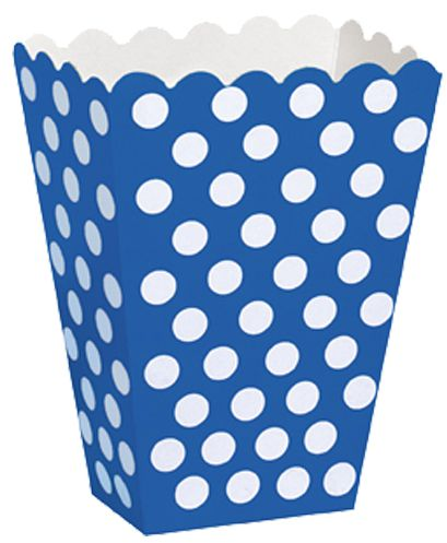 Blue Dots Treat Boxes - Pack of 8