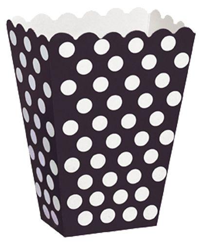 Black Dots Treat Boxes - Pack of 8