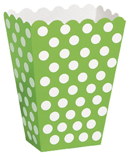 Green Dots Treat Boxes - Pack of 8