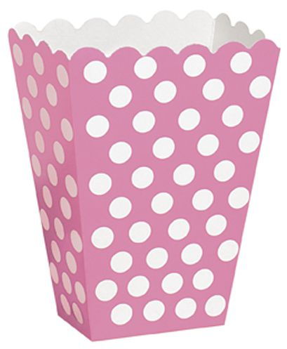 Pink Dots Treat Boxes - Pack of 8
