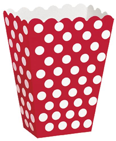 Red Dots Treat Boxes - Pack of 8