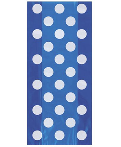 Blue Dots Cello Bags - Pack of 20