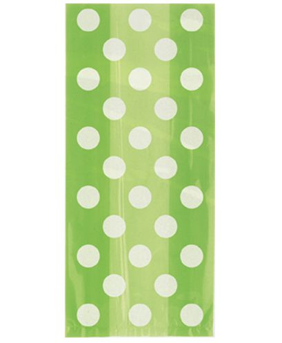 Green Dots Cello Bags - Pack of 20