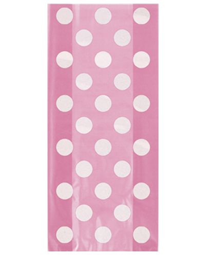 Pink Dots Cello Bags - Pack of 20