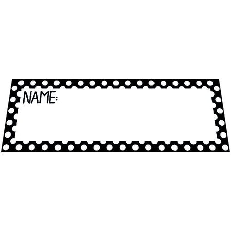 Black Polka Dot Placecards - Pack of 8