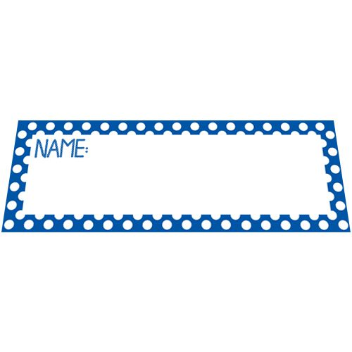 Blue Polka Dot Placecards - Pack of 8