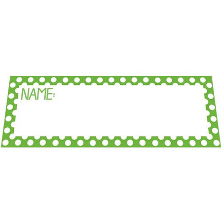 Lime Green Polka Dot Placecards - Pack of 8