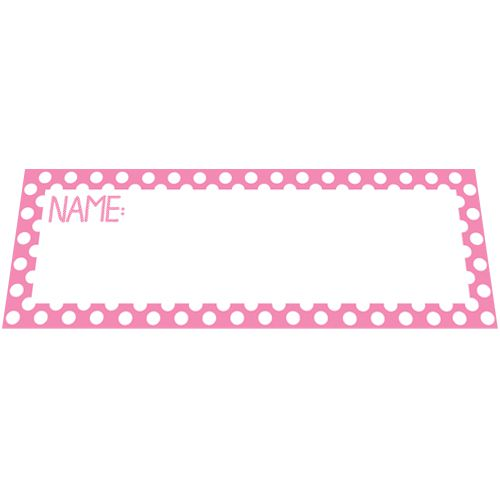 Pink Polka Dot Placecards - Pack of 8