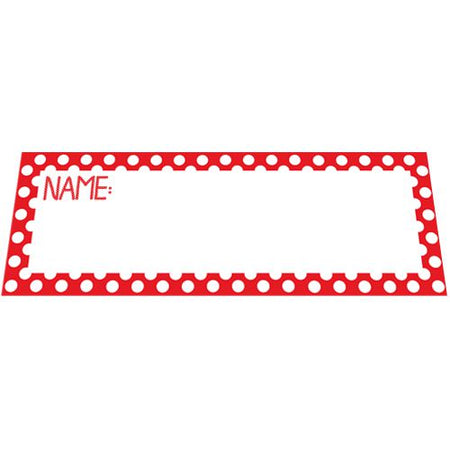 Red Polka Dot Placecards - Pack of 8