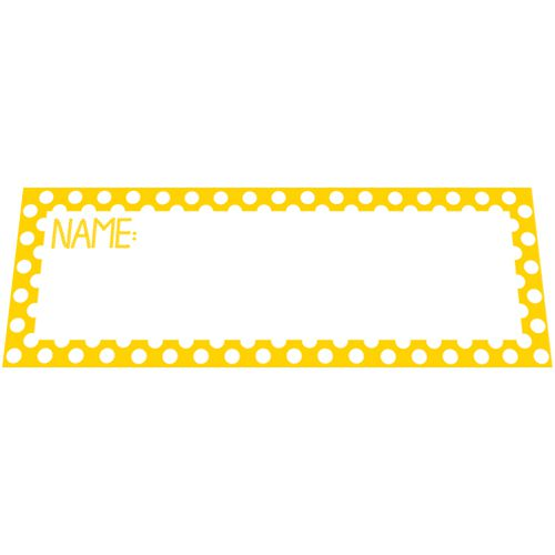 Yellow Polka Dot Placecards - Pack of 8