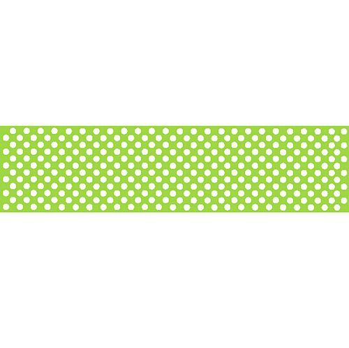 Lime Green Polka Dot Paper Table Runner - 120 x 29.7cm - Each