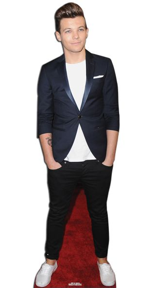 Louis One Direction Lifesize Cardboard Cutout - 1.77m