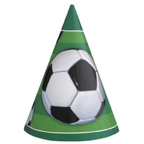 3-D Football Hats - Pack of 8