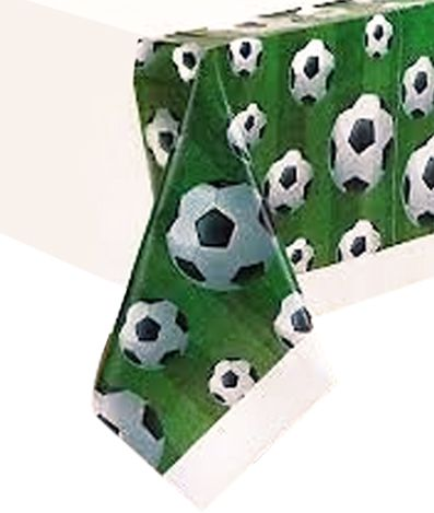 3-D Football Plastic Table Cloth