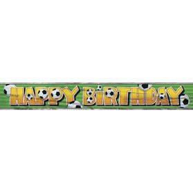3-D Football Foil Birthday Banner - 3.66m