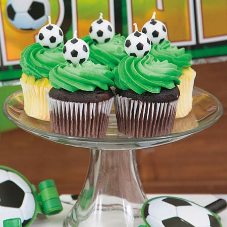 3-D Football Pick Candles - Pack of 6