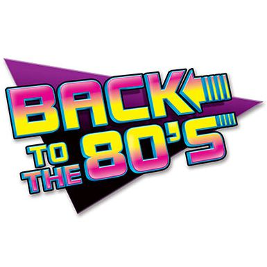 Back To The 80's Sign - 61cm